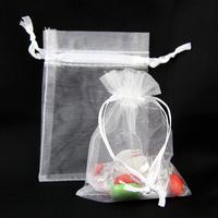 200 sachets organza emballage dragées bijoux SO79 Blanc