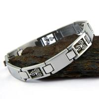 Bracelet acier homme motif triskel BRSX10