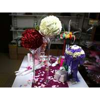 Vase martini 50 cm support boule de fleur VSM50