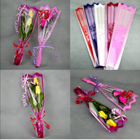 100 emballage cellophane roses en bois ou brins de muguet 1er Mai CLO1