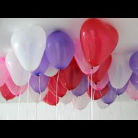 100 ballon de baudruche cœur gonflable pour décoration salle mariage BLO1