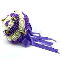 Bouquet de la mariée bicolore BQT1 IVOIRE VIOLET