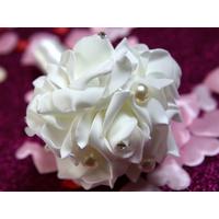 Mini bouquet demoiselles d'honneurs BQT2 BLANC