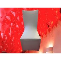 10 Housse de chaise blanche en tissu élastique lycra universelle HDC1