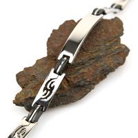 Bracelet acier homme motif tribal BRSJ8