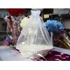 Panier cœur osier avec sac organza pour mariage MPC3