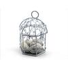 50 Boîtes à dragées mini cage oiseaux mariage BTD20