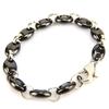 Bracelet acier céramique maille grain de café homme BRSM1 noir 11mm