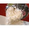 Coussin porte alliances forme cœur plume plat rigide mariage MCA2