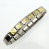 Bracelet acier Italien lettre dorée au choix BRSL1 D