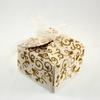 50 boîtes à dragées pour faire part mariage baptême motif floral BTC21 Paillette doré