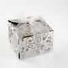 50 boîtes à dragées pour faire part mariage baptême motif floral BTC21 Argenté