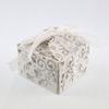 50 boîtes à dragées pour faire part mariage baptême motif floral BTC21 Paillette argenté