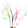 Lot tiges de 8 brindilles d'herbe fibres déco bouquet centre de table roses en bois DFB1
