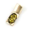 Pendentif argent ambre véritable PAM116 Vert