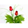 Roses en bois fleur en bois décoration pour muguet DRB1