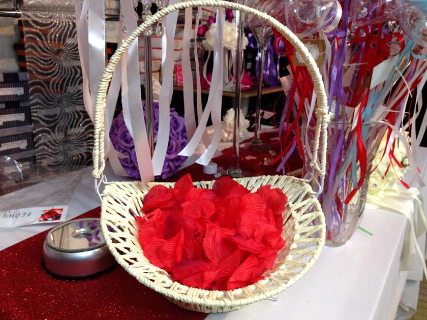 panier corbeille ptale de rose dco mariage dpm2 - Panier Pour Petale Mariage