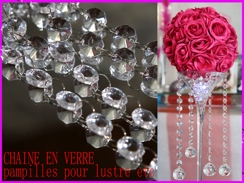 Cha ne verre guirlande d coration mariage mdc2 mariage for Table en chaine