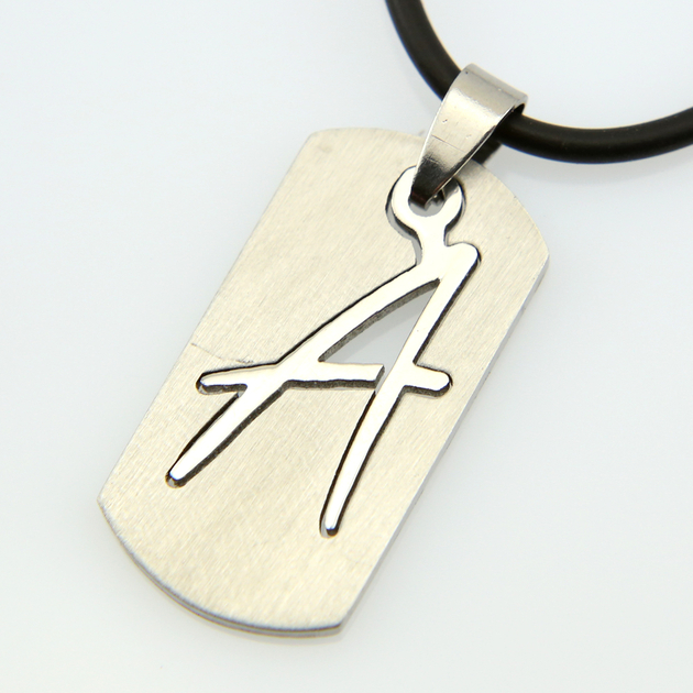 collier homme initiale