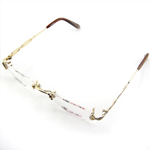 monture de lunettes de vue perc e invisible lc6003 dor lunettes de vue montures perc es. Black Bedroom Furniture Sets. Home Design Ideas