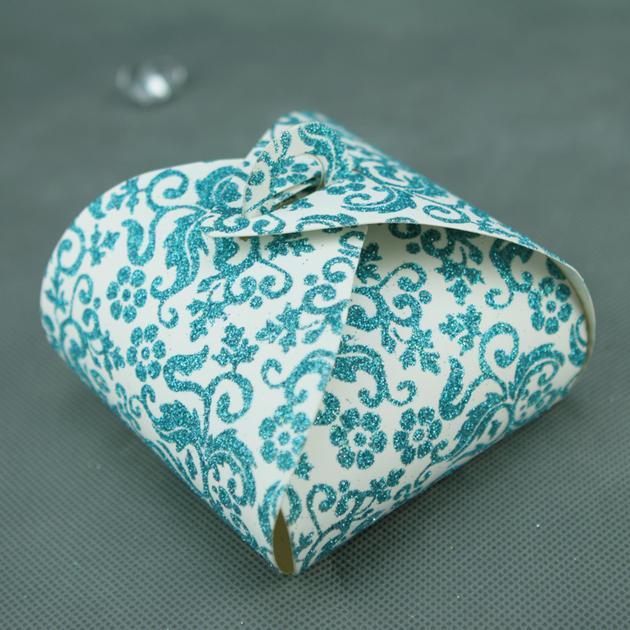 50 bo tes g teaux pour faire part mariage bapt me motif floral btc2 paillette bleu mariage. Black Bedroom Furniture Sets. Home Design Ideas