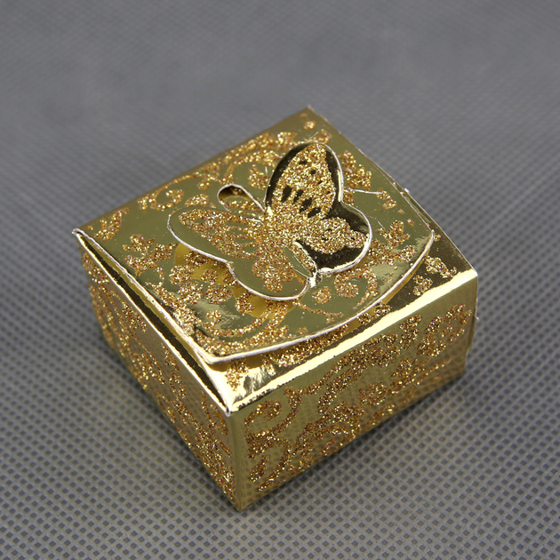 50 botes drages orientaux pour faire part mariage baptme motif papillon btc8 dor paillette - Drage Mariage Oriental