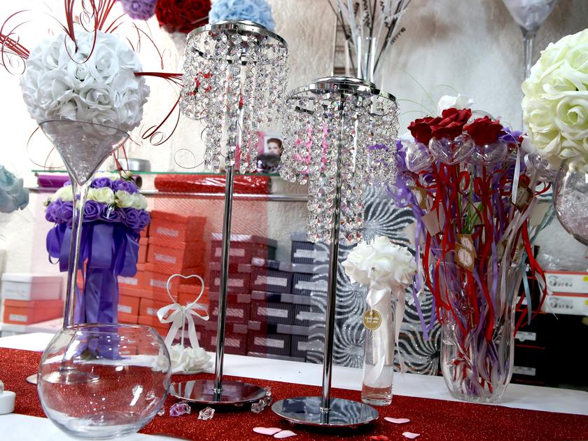 Support boule de rose centre de table des mari mariage - Centre de table bapteme ...