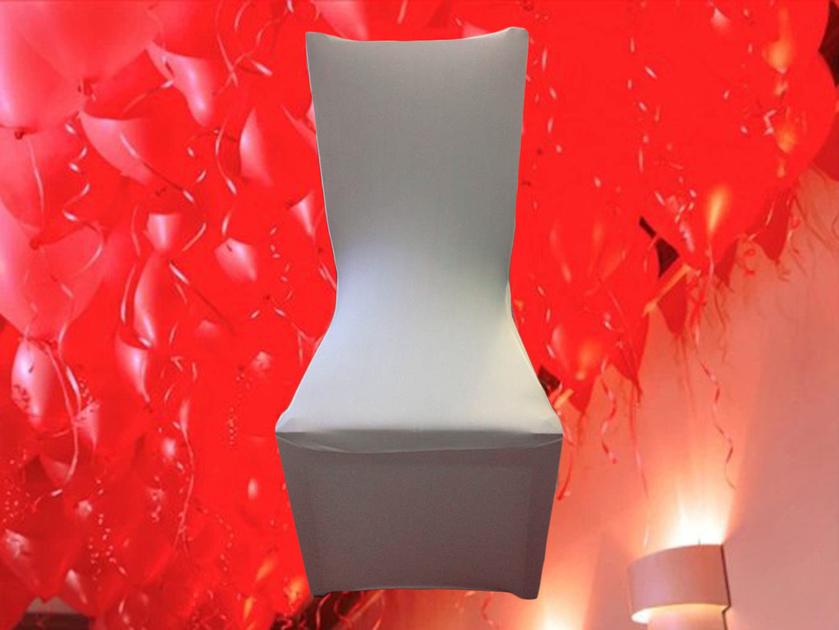 10 housse de chaise blanche en tissu lastique lycra for Housse de chaise en tissu