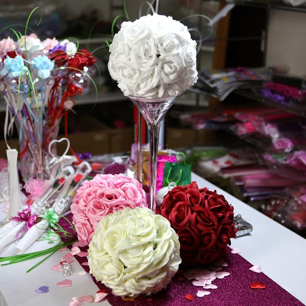 boule de fleur d coration table de mariage bl20 d co mariage fete vendu en magasin boule de. Black Bedroom Furniture Sets. Home Design Ideas