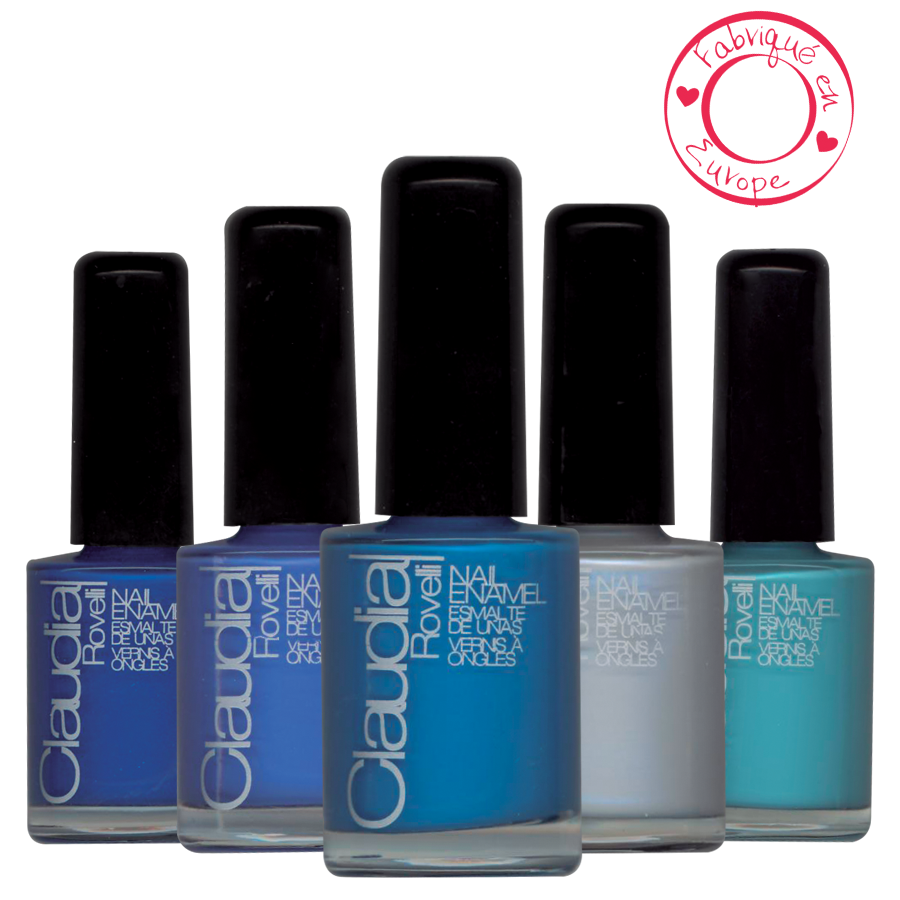 CLAUDIA ROVELLI Vernis à ongles collection BLUE BLUE