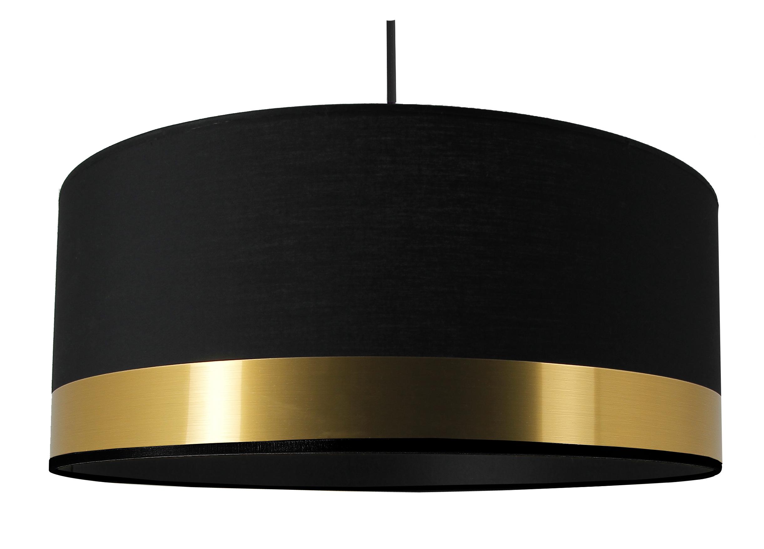Suspension cylindre Laiton et noir grand modèle