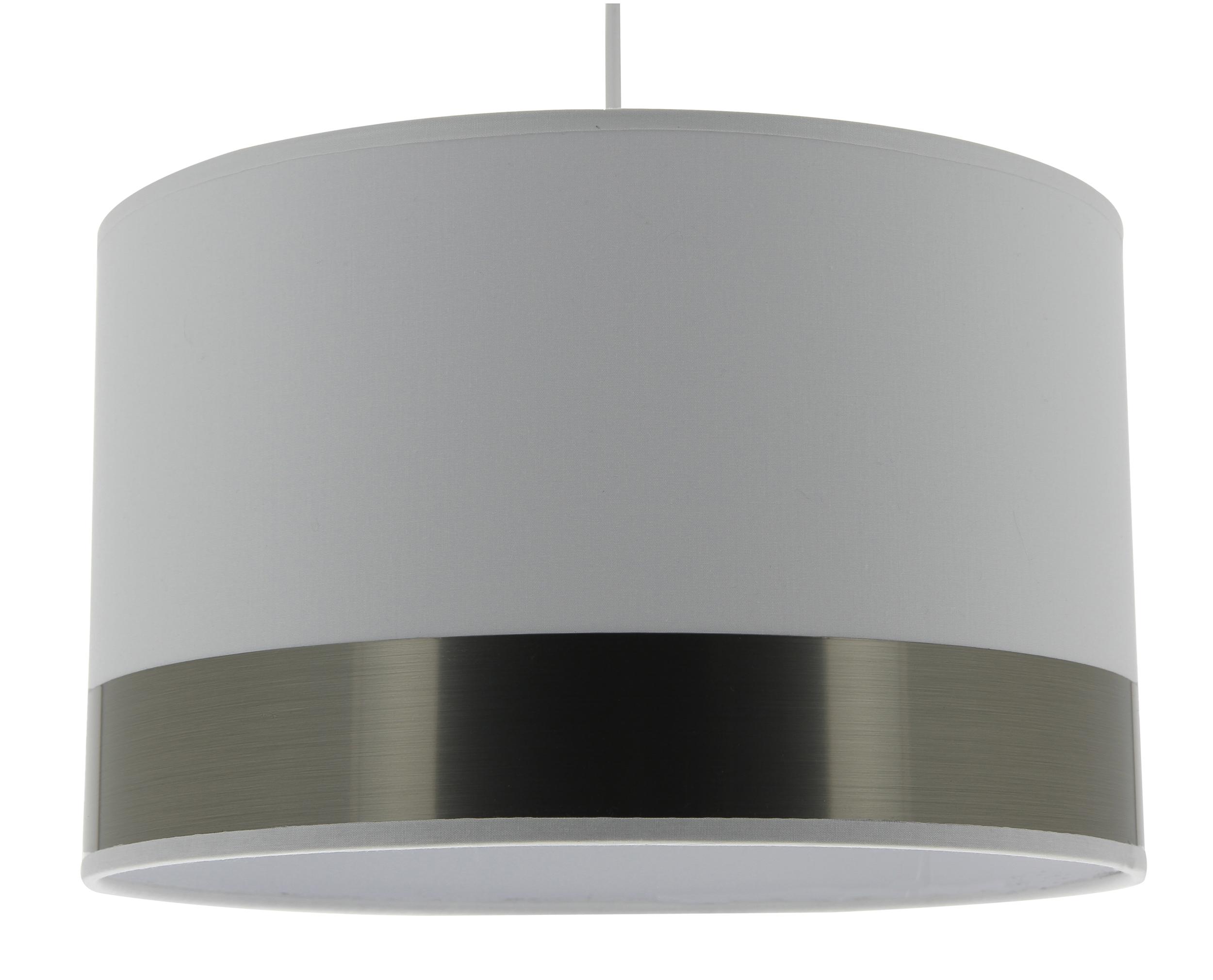 Suspension Silver blanc acier brossé