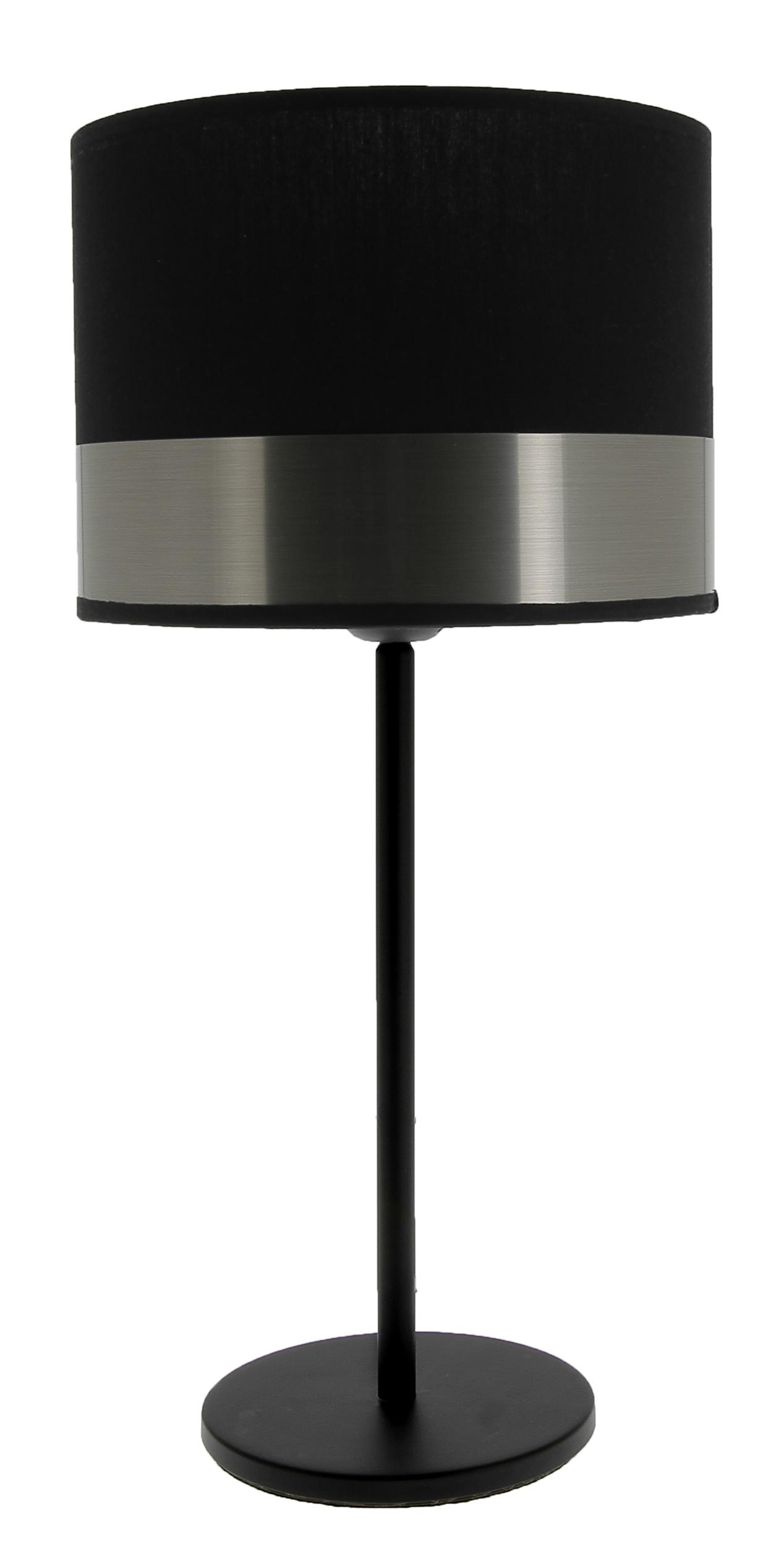 Lampe Max noir/acier brossé