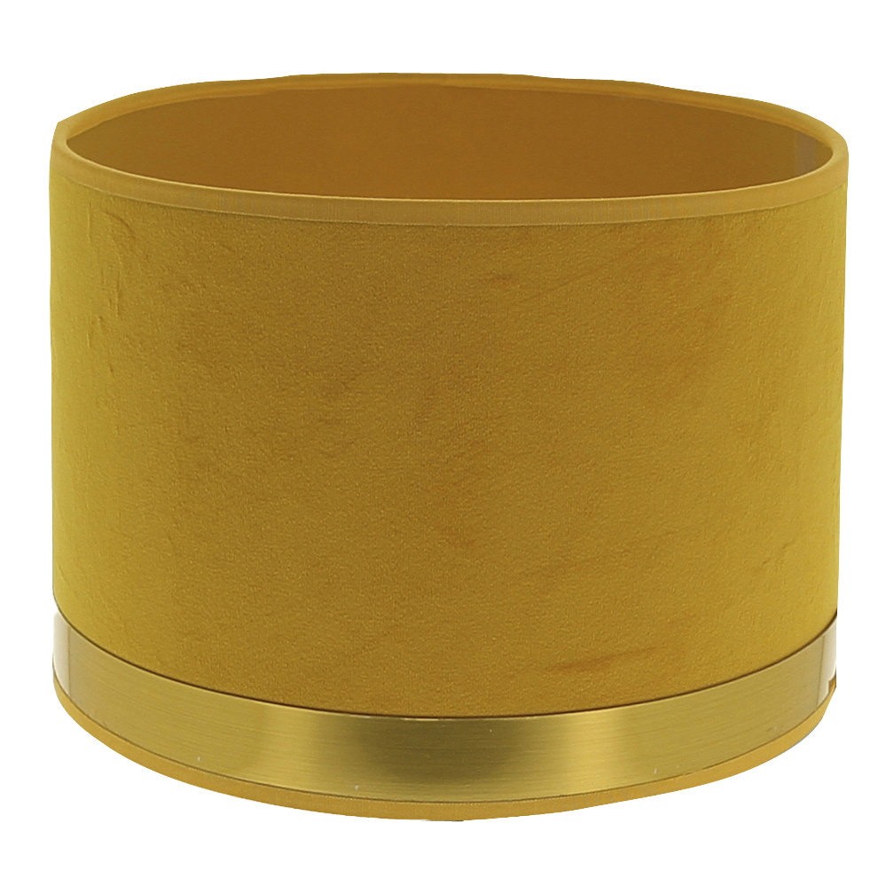 Abat-jour cylindre Art Déco jaune et laiton