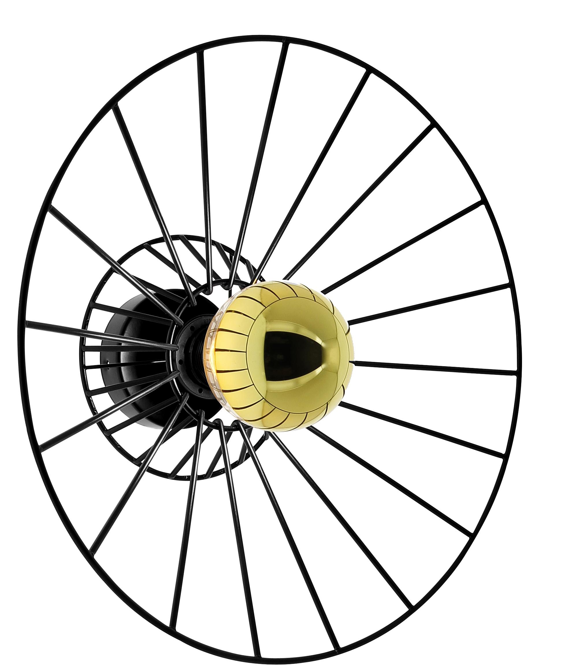 Applique métal Othilie 38 cm noire
