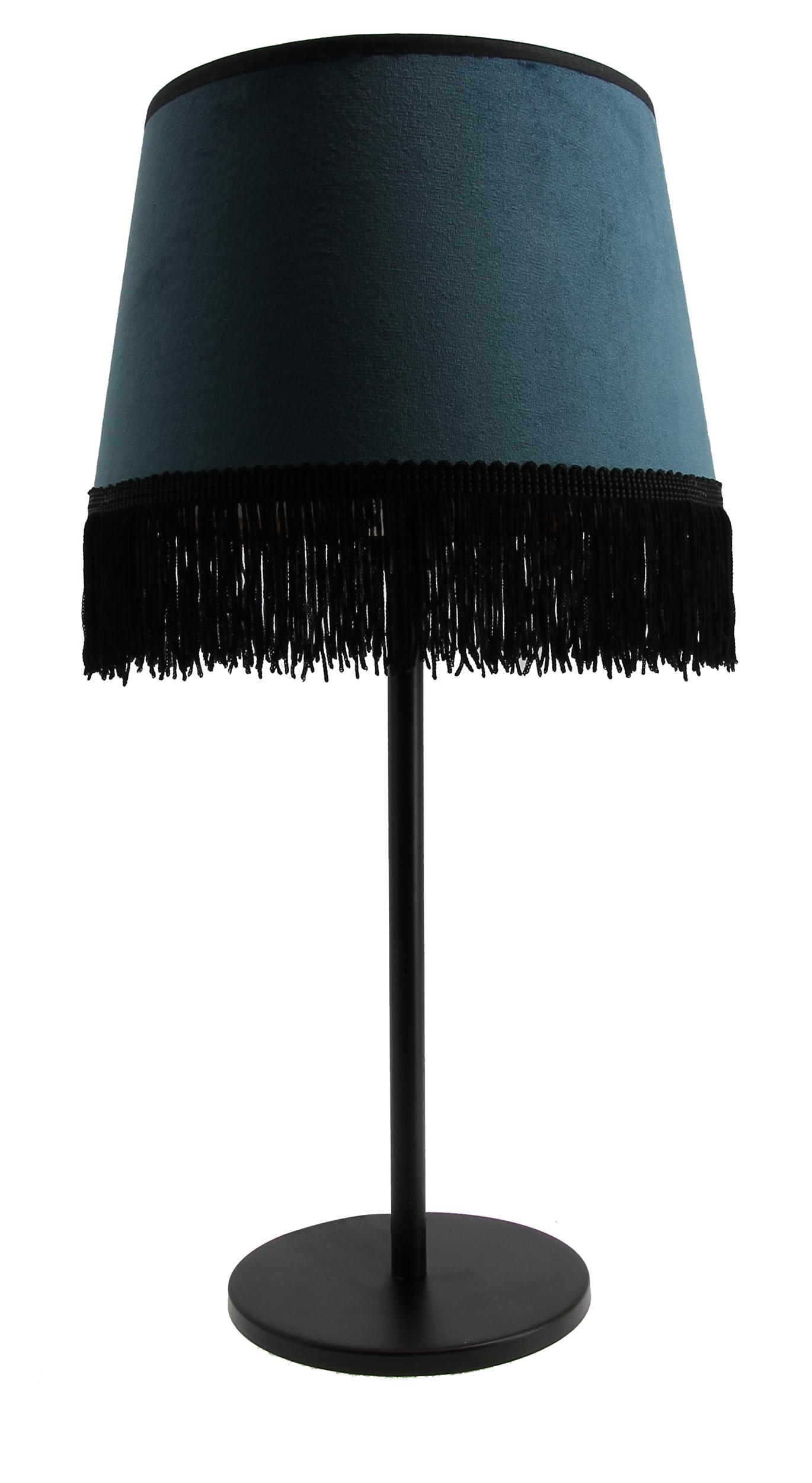 Lampe à poser Joséphine bleu paon