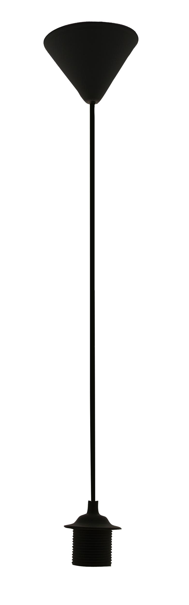 Cordon de suspension en PVC Noir - 53cm