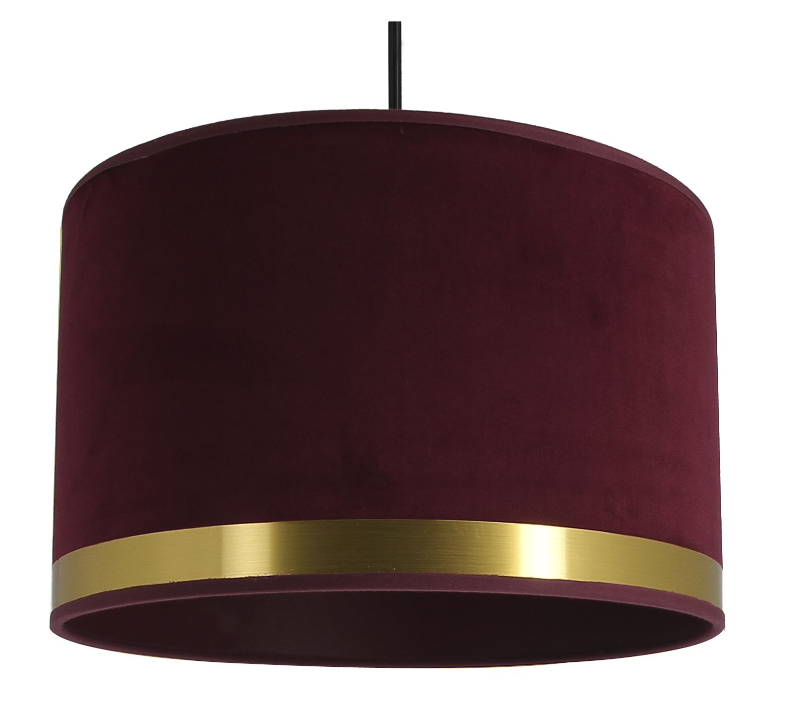 Suspension Art Deco rouge fuchsia/laiton