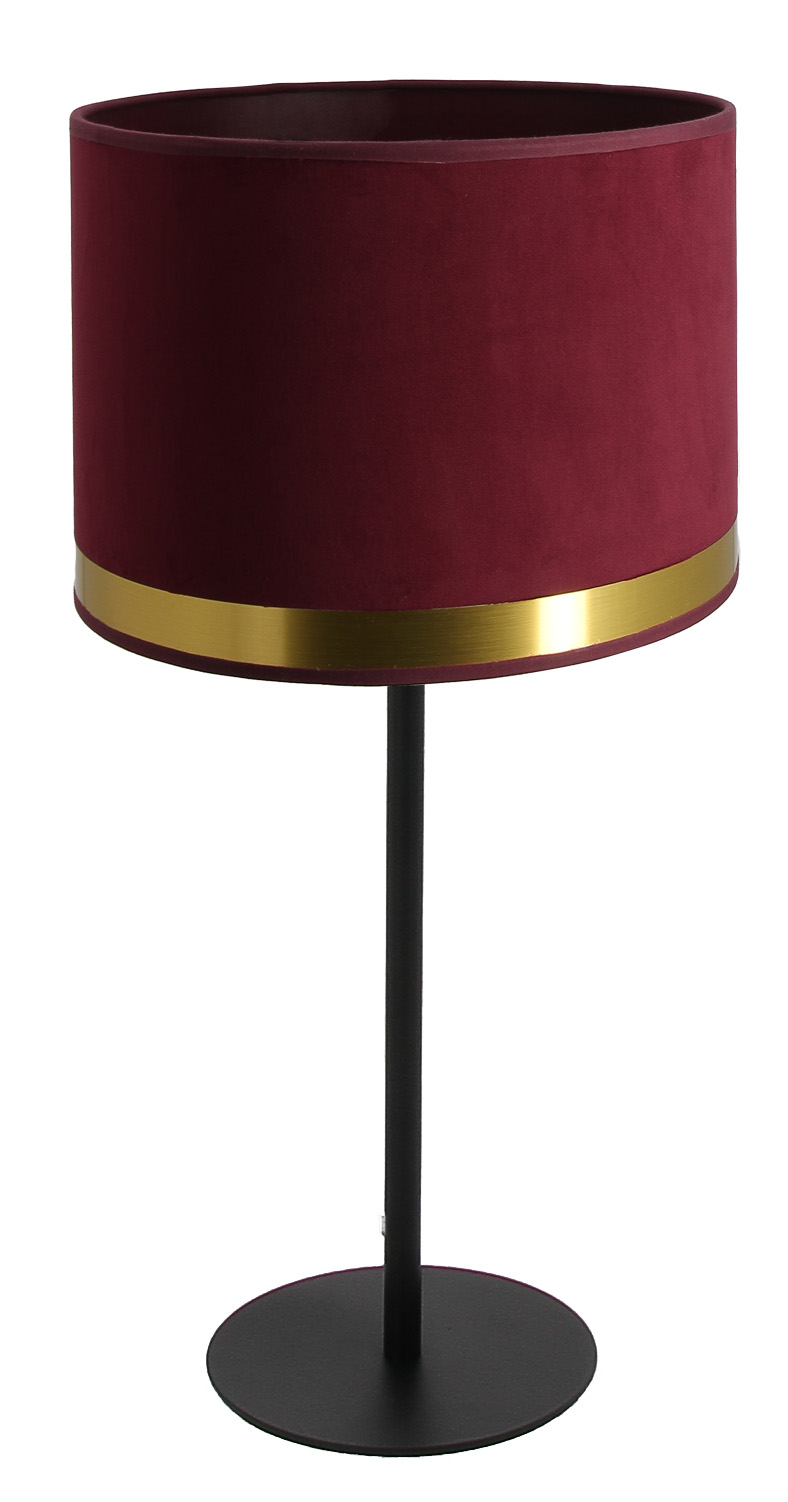 Lampe Max Art Déco rouge fuchsia / Laiton