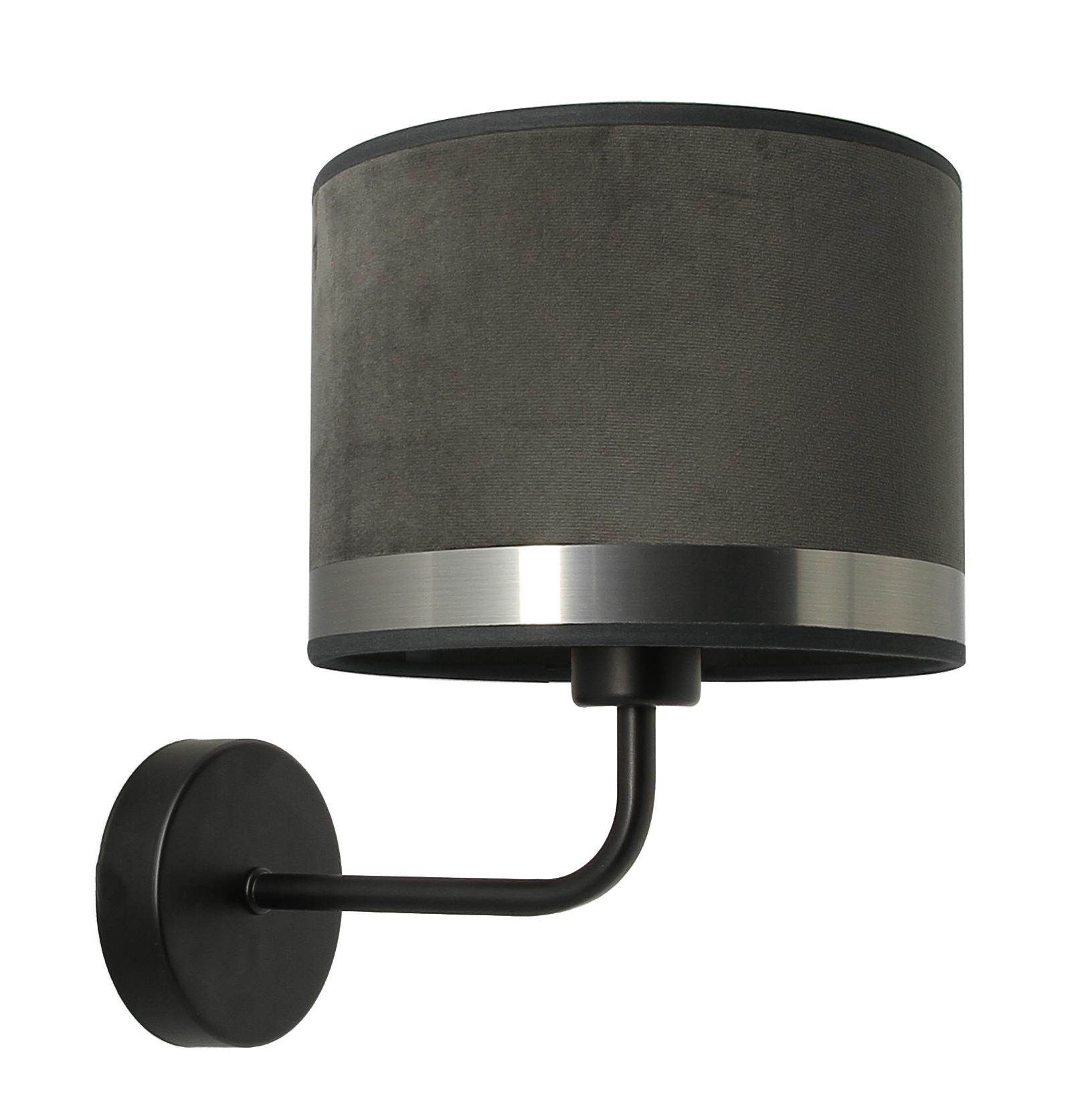 Applique Art déco gris / acier brossé