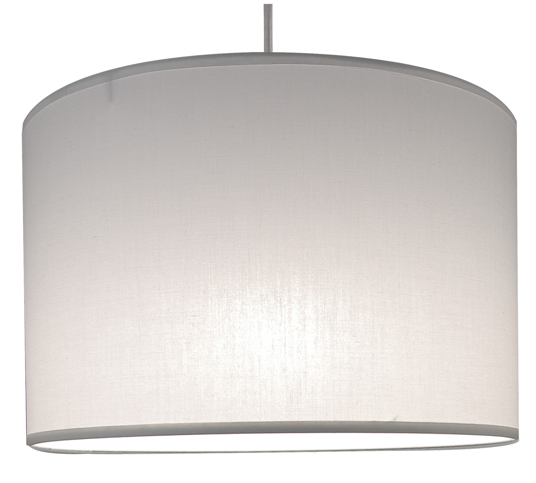 Suspension cylindre blanc transparent, 29 cm
