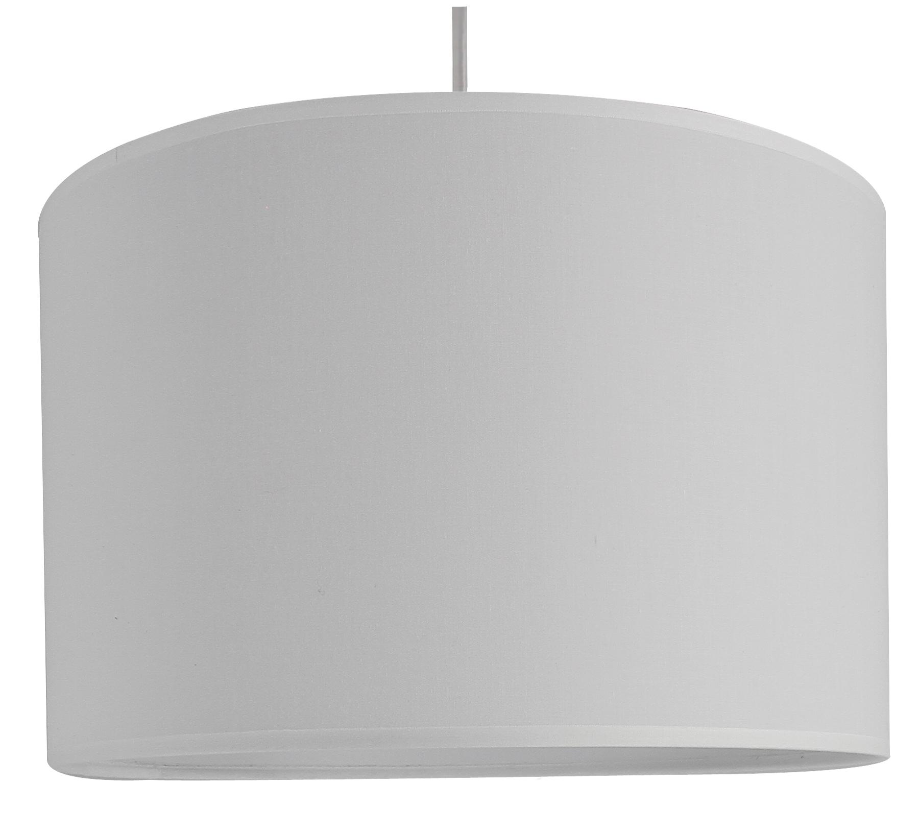 Suspension cylindre blanc D29 cm