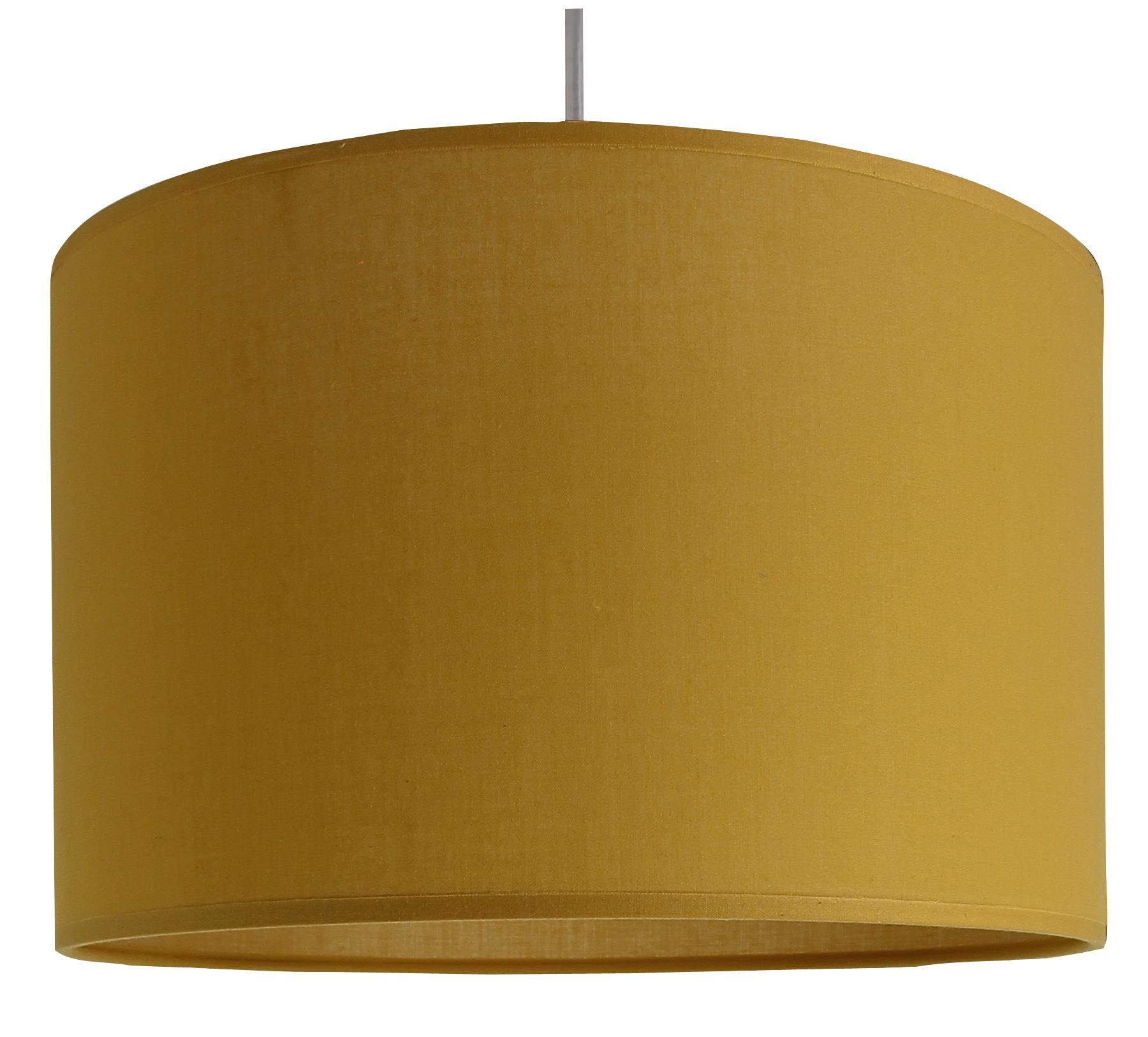 Suspension cylindre jaune moutarde D29 cm