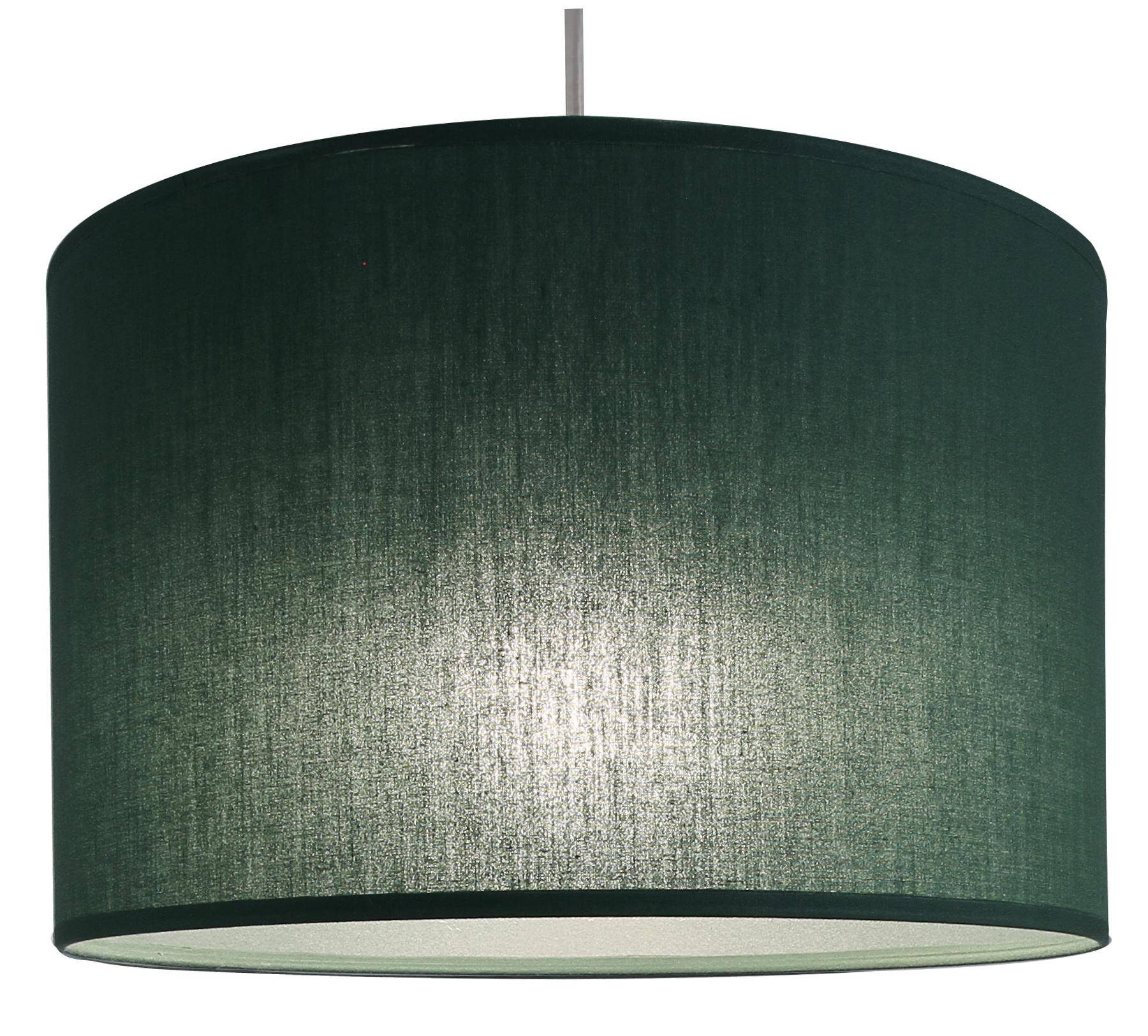 Suspension cylindre vert tropique transparent, 29 cm