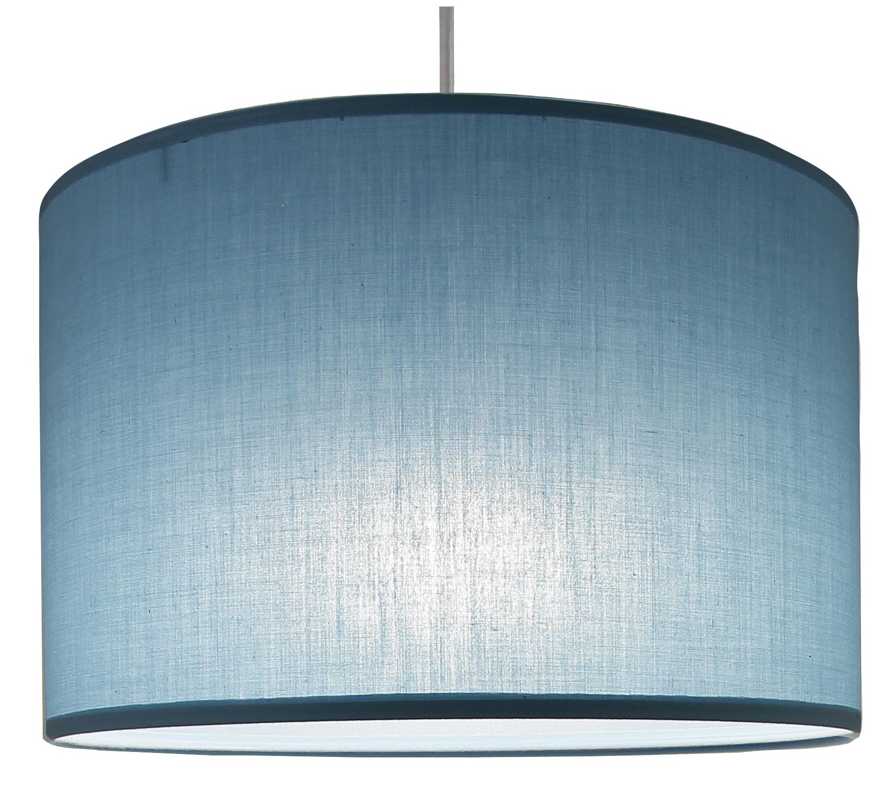 Suspension cylindre bleu baltique transparent, 29 cm