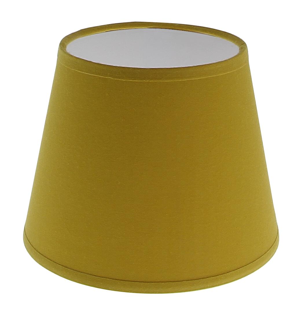 Abat-jour pince jaune moutarde forme américaine