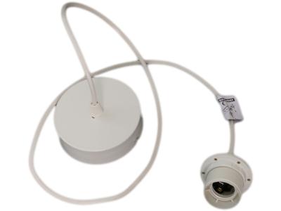cordon de suspension avec pavillon métal blanc 2
