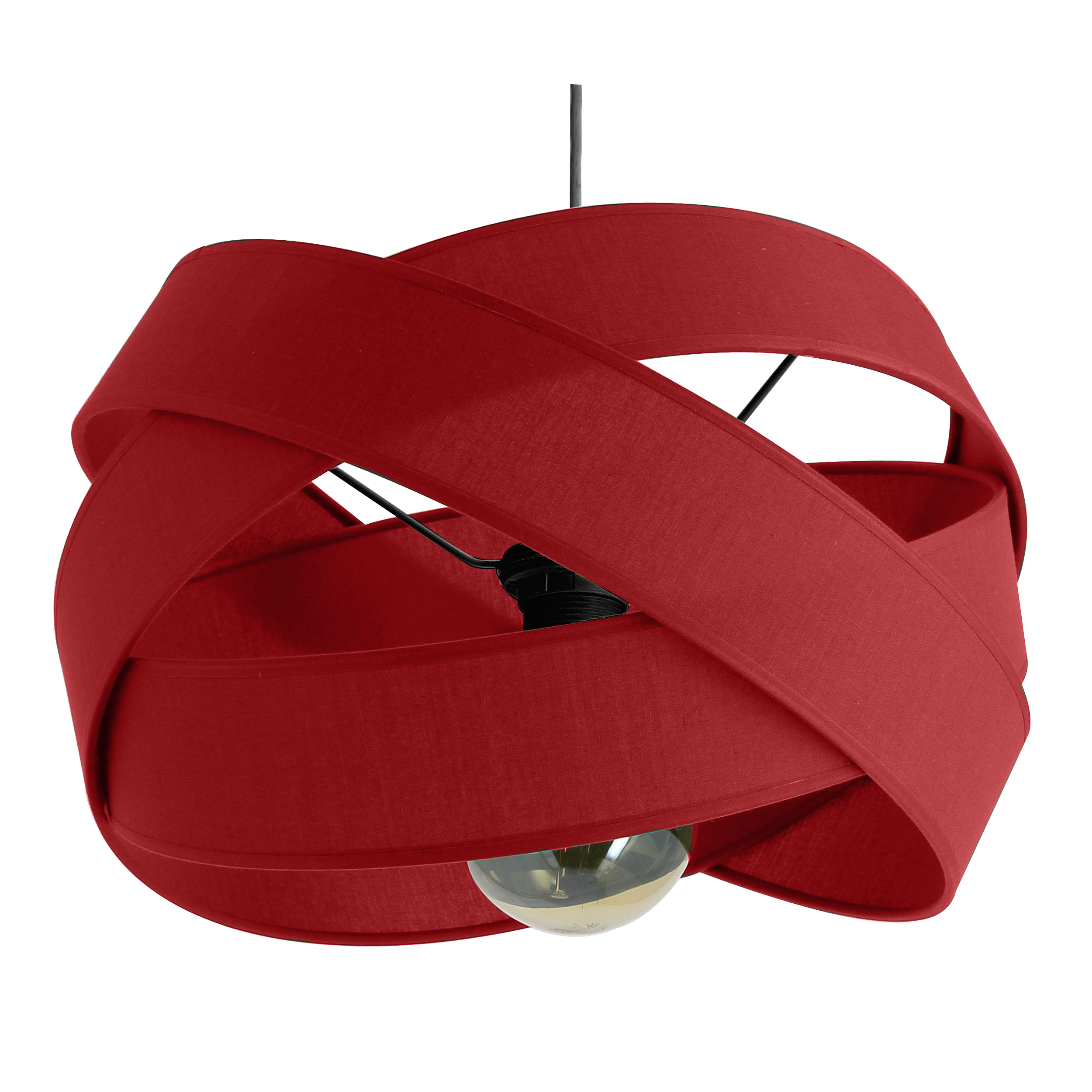 Suspension Bijou rouge Diamètre 38 cm