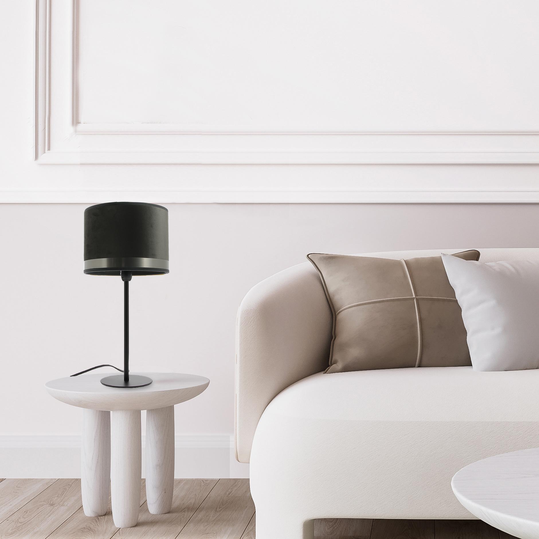 Lampe Max Art Déco Gris / Acier Brossé
