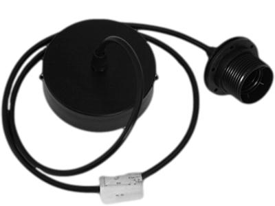 cordon de suspension noir avec pavillon métal 3